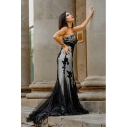 vestido largo modelo alba